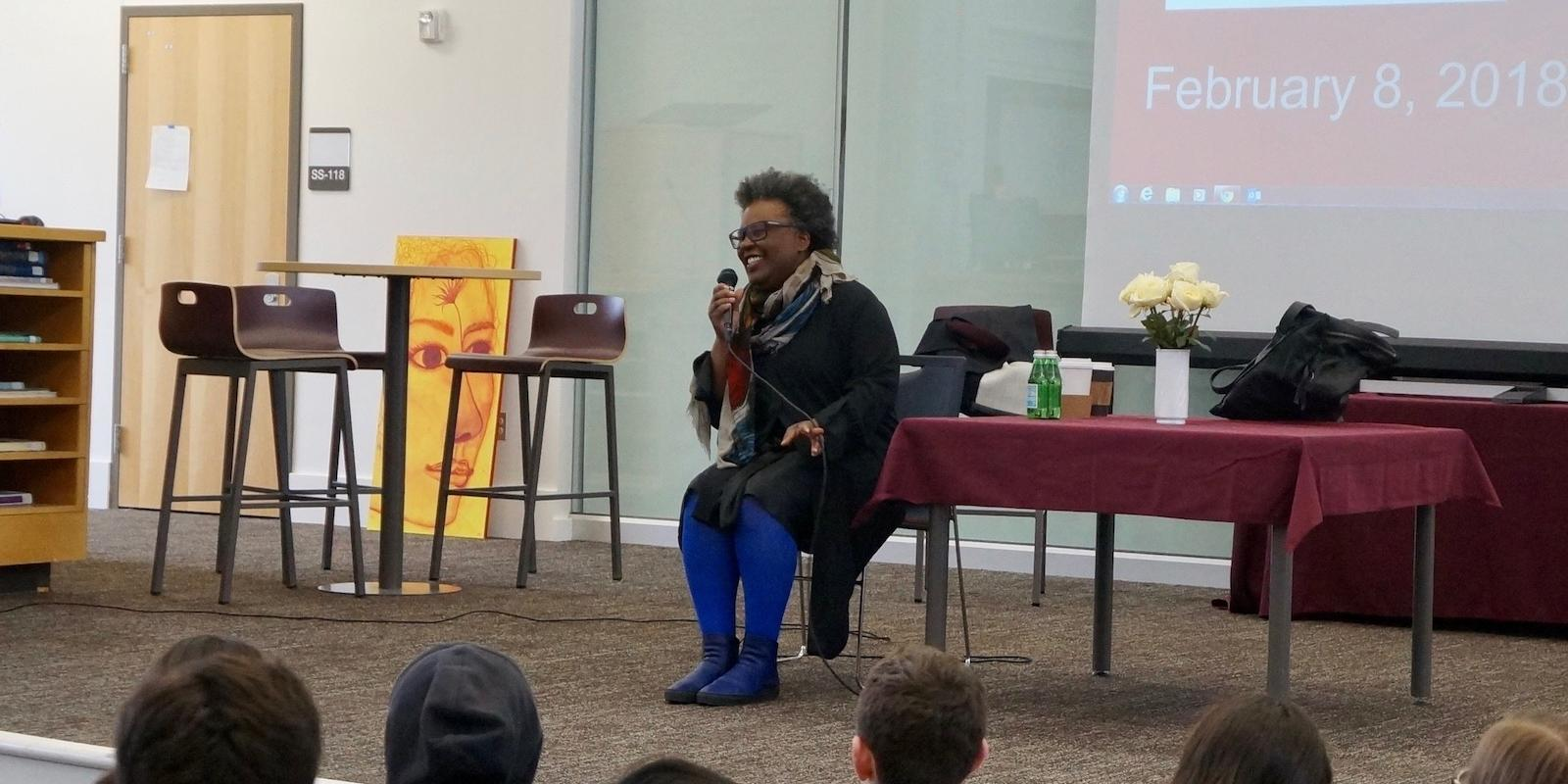 Claudia Rankine Speaking to High School Students